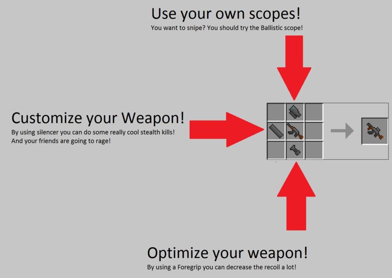 infohe  Warfield 3 (500 verschiedene Waffen) Mod für Minecraft 1.4.7